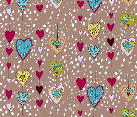 love filled hearts fabric by kt40 on Spoonflower - custom fabric