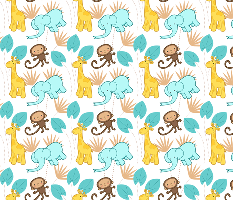 Cute Safari 1 fabric by zoel on Spoonflower - custom fabric