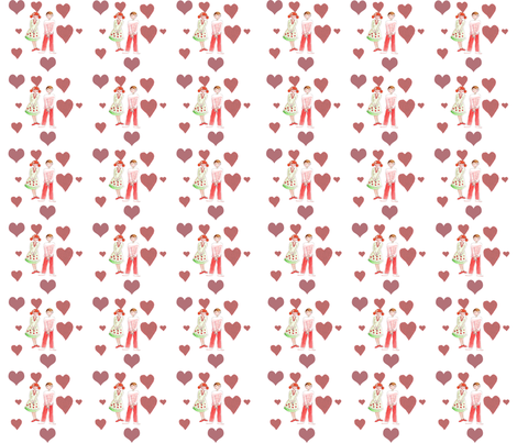 In love 2 fabric by nadja_petremand on Spoonflower - custom fabric