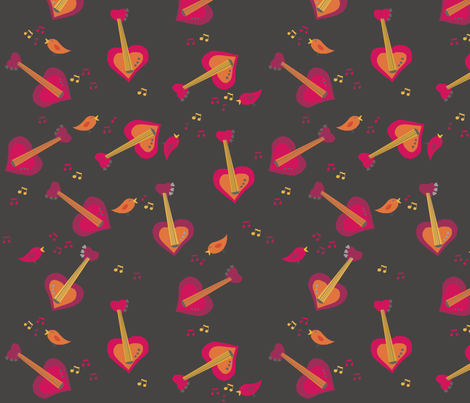 Guitar Love fabric by tlouey on Spoonflower - custom fabric