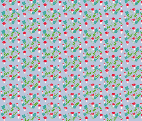 Periwinke Mushrooms fabric by disgusted_cats on Spoonflower - custom fabric