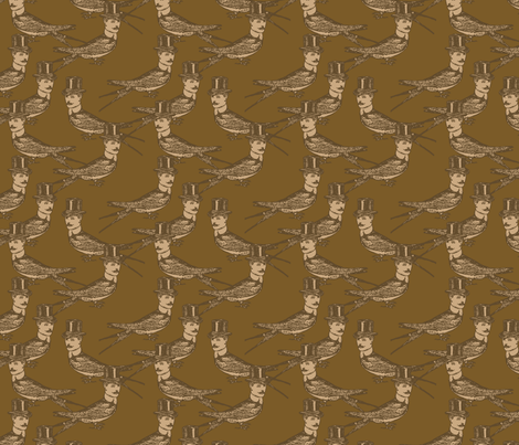 Steampunk Birdman fabric by mudstuffing on Spoonflower - custom fabric