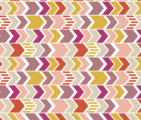 Pellerina Pink Chevron 90 deg fabric by mrshervi on Spoonflower - custom fabric