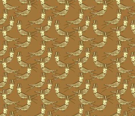 Steampunk Birdman - variation fabric by mudstuffing on Spoonflower - custom fabric
