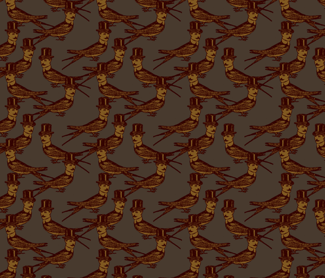 Steampunk Birdman, Variation II fabric by mudstuffing on Spoonflower - custom fabric