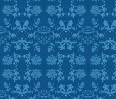 solar print flowers fabric by weavingmajor on Spoonflower - custom fabric