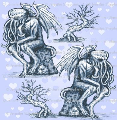 Cthulhu in Love (Blue)