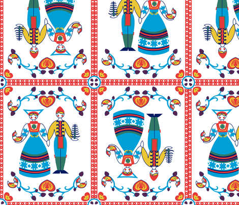 Scandinavian Love fabric by thirdhalfstudios on Spoonflower - custom fabric