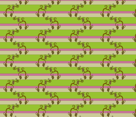 Vines with Raspberry Stripe fabric by pantsmonkey on Spoonflower - custom fabric