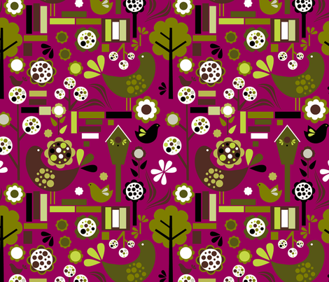 retrospring2 fabric by renule on Spoonflower - custom fabric