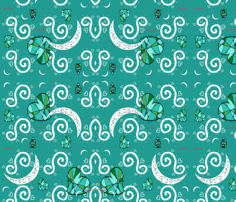 Sweet Moons fabric by deboraheve on Spoonflower - custom fabric