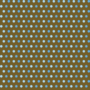 Blue & Brown Dots