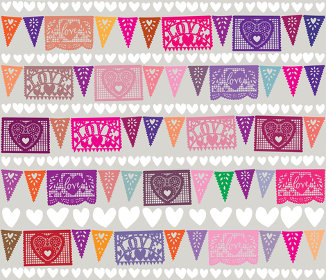 Love Fiesta fabric by sammyk on Spoonflower - custom fabric