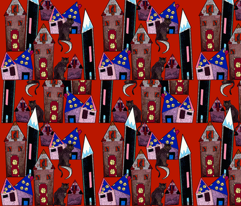 Cats at Home fabric by deboraheve on Spoonflower - custom fabric