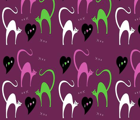 I Luv Us fabric by deboraheve on Spoonflower - custom fabric