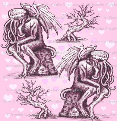 Cthulhu in Love (Pink)