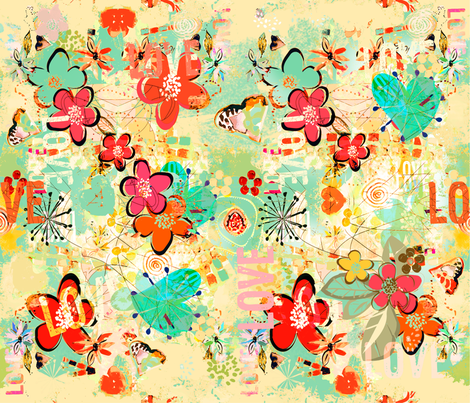 Sweet Love fabric by mandyh on Spoonflower - custom fabric