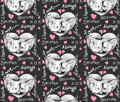 lovebunnies4 fabric by kre8or on Spoonflower - custom fabric
