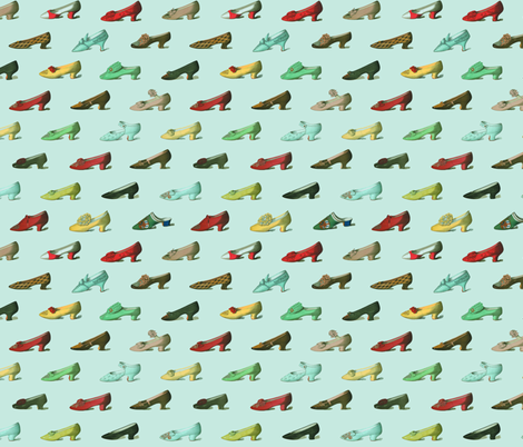Ladies' Shoes - Dove fabric by mouo on Spoonflower - custom fabric