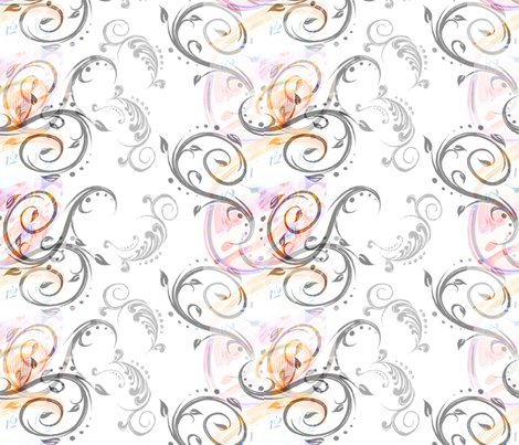 Time & Flourish fabric by becky_ray on Spoonflower - custom fabric