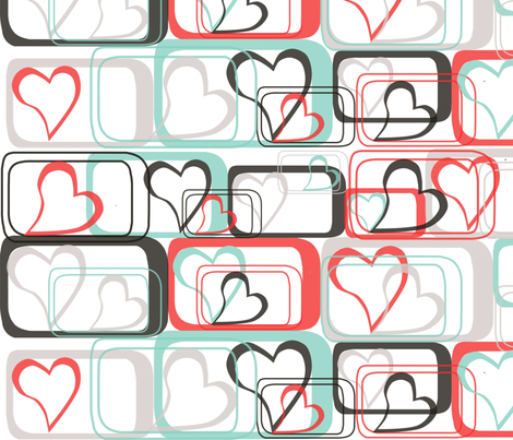 Love in a box fabric by jasmo on Spoonflower - custom fabric