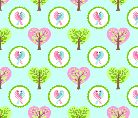 tweethearts 2 fabric by mytinystar on Spoonflower - custom fabric
