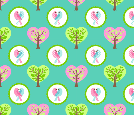 tweethearts 3 fabric by mytinystar on Spoonflower - custom fabric