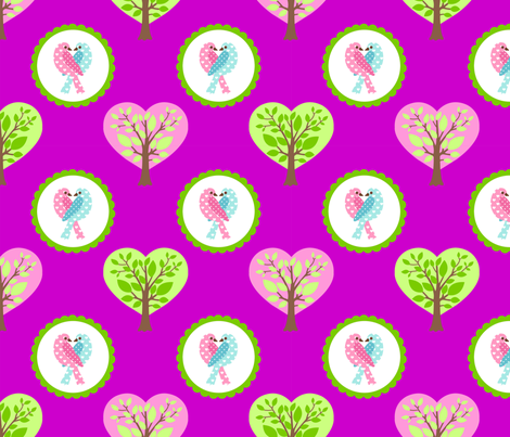 tweethearts4 fabric by mytinystar on Spoonflower - custom fabric