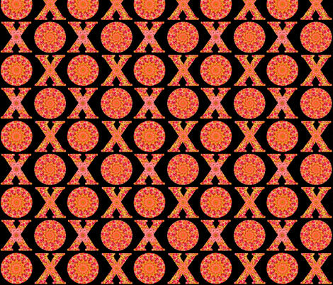 XO with love fabric by vo_aka_virginiao on Spoonflower - custom fabric