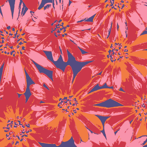 Red Anenomes in Spring Quilt colors fabric by weavingmajor on Spoonflower - custom fabric