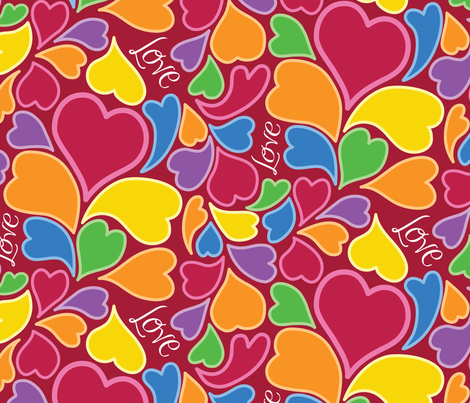 Love is in the Air fabric by sew-me-a-garden on Spoonflower - custom fabric