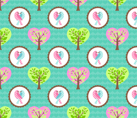 TWEEThearts fabric by mytinystar on Spoonflower - custom fabric