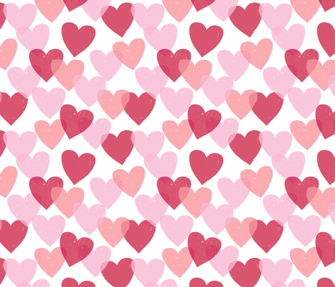 Tissue Hearts fabric by jenimp on Spoonflower - custom fabric