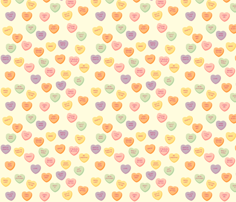 Crafty Candy Hearts fabric by jenimp on Spoonflower - custom fabric