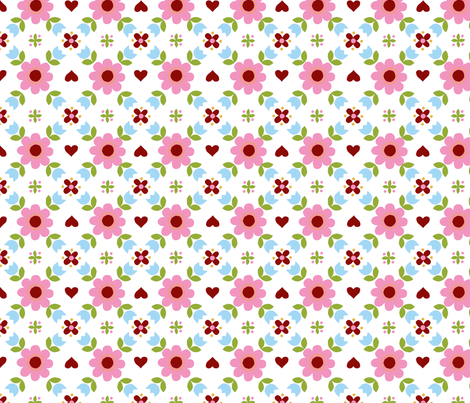 Retropattern pink-ch fabric by katharinahirsch on Spoonflower - custom fabric