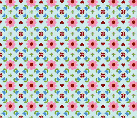 Retropattern Blue fabric by katharinahirsch on Spoonflower - custom fabric