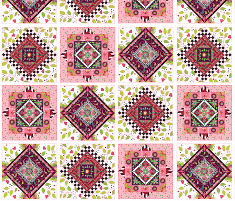 I Love Quilt Blocks fabric by leslipepper on Spoonflower - custom fabric