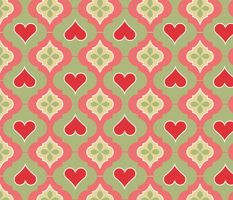 Sweet Heart fabric by eva_chang on Spoonflower - custom fabric