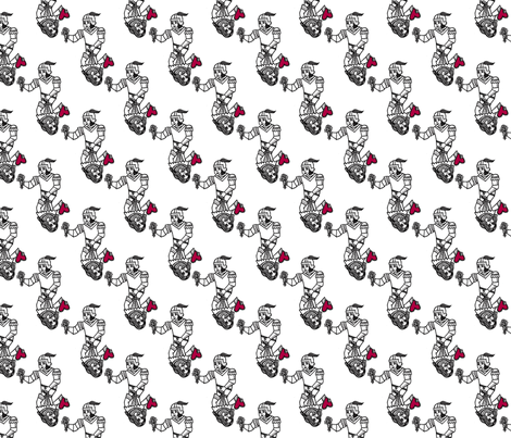 Black & Red Valentine Playing Card fabric by aydeeyai on Spoonflower - custom fabric