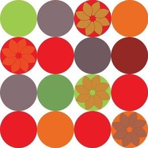 4 by 4 circles