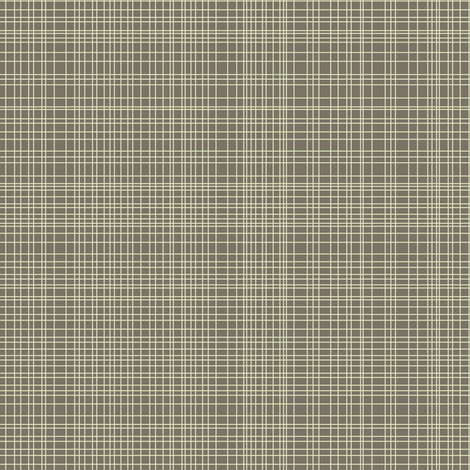 cream on brown grid fabric by scrummy on Spoonflower - custom fabric
