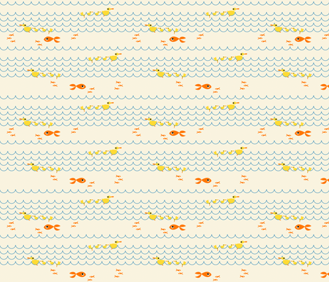 Duck_Swim fabric by ttoz on Spoonflower - custom fabric