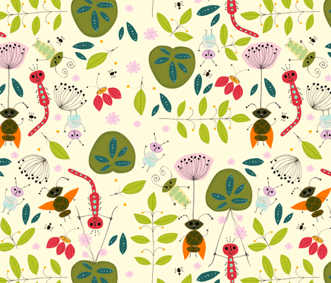 Flea de Corps (big!) fabric by alison_oliver on Spoonflower - custom fabric