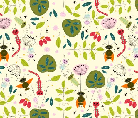 Flea de Corps (big!) fabric by alison_oliver on Spoonflower - custom fabric