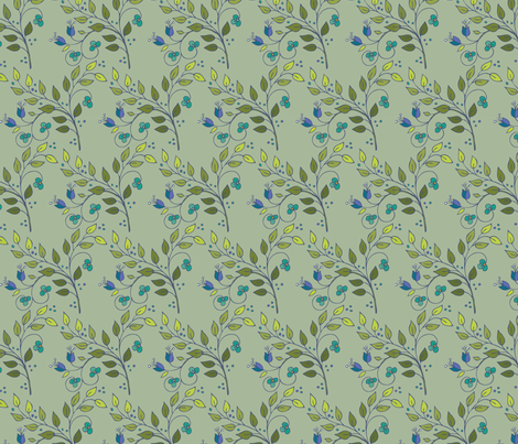 Floral Lattice-khaki fabric by leslipepper on Spoonflower - custom fabric