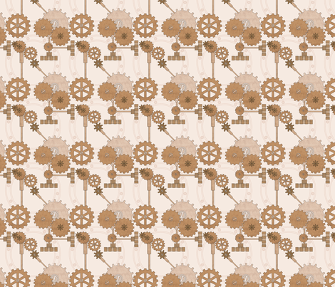 Clockwork Machina fabric by industrialfairytale on Spoonflower - custom fabric