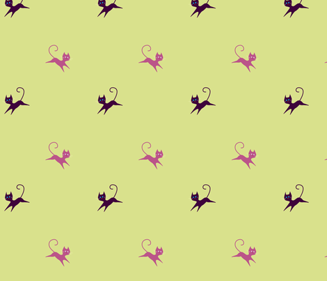 Kitty Kat fabric by malien00 on Spoonflower - custom fabric