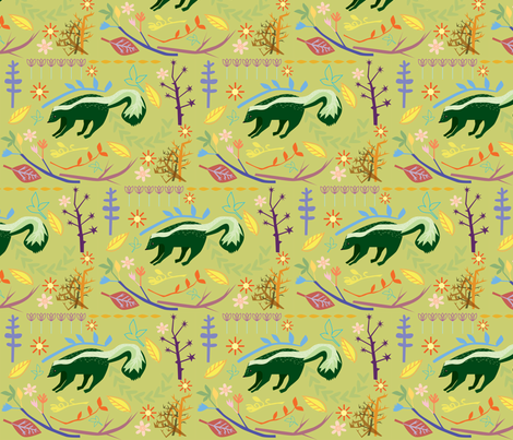 skunky wonderland fabric by junej on Spoonflower - custom fabric