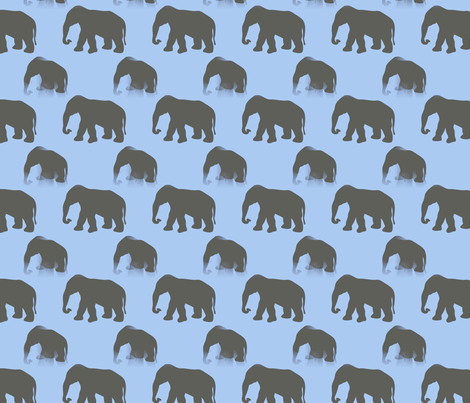 Elephants fabric by fit2betied on Spoonflower - custom fabric