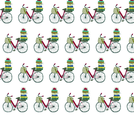 Crafters bike fabric by syko on Spoonflower - custom fabric